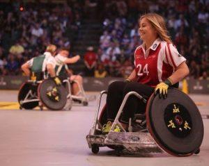 Urheilija pyörätuolissa